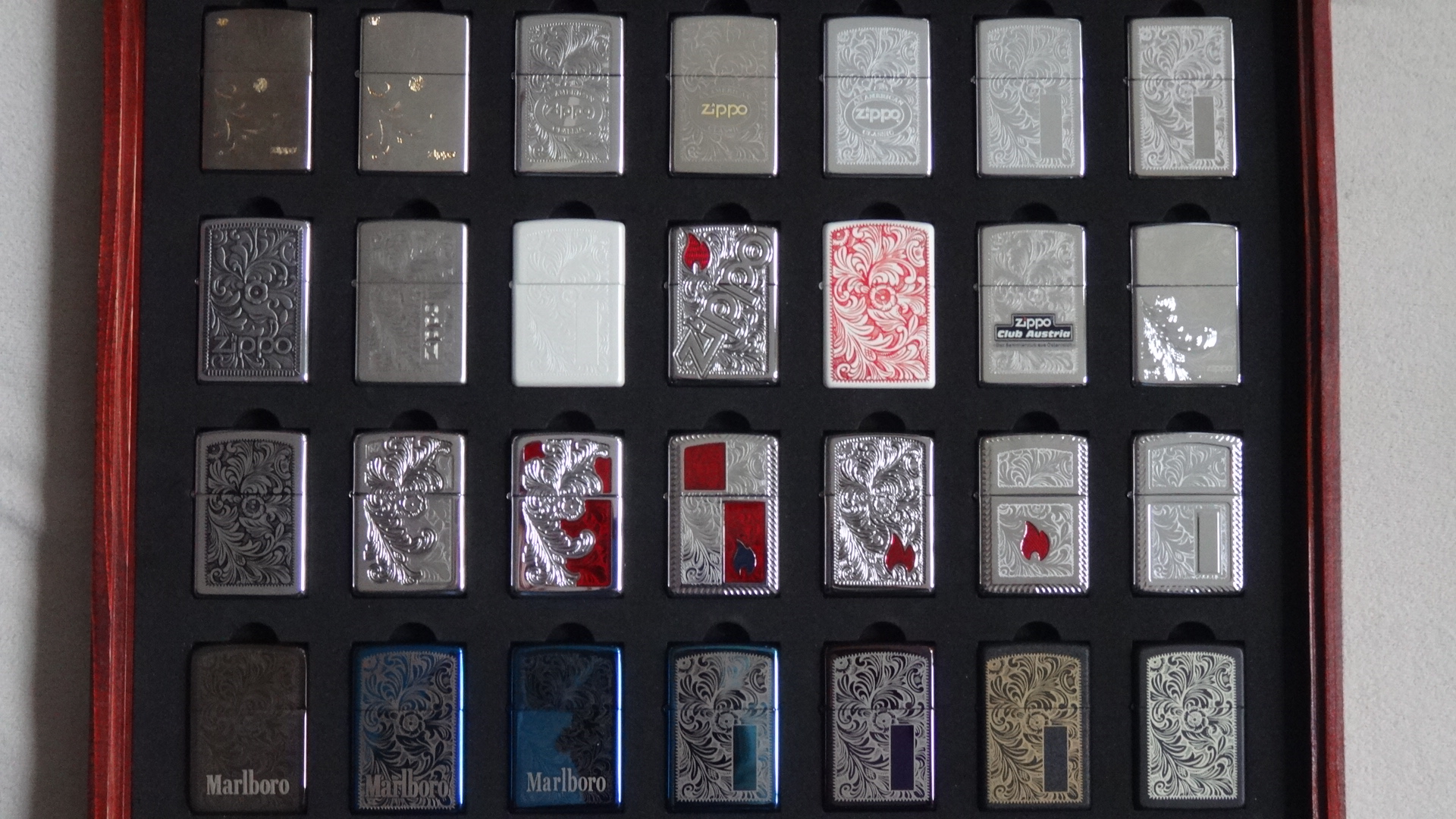 Zippo lighters collection